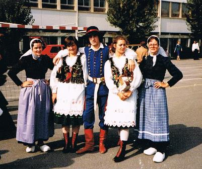 Op de foto met Poolse dansers