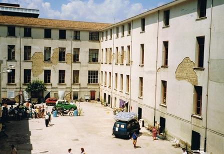 Het klooster in Cava de ' Tirreni, waar de groep sliep.