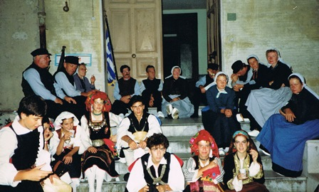 1989 Samen met de Griekse folkloregroep