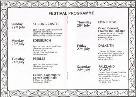Programma Schotland 2001