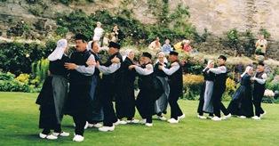 """Optreden in de kasteeltuin van """"Stirling Castle"""""""