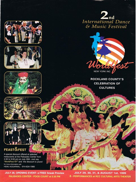 "Poster van het ""Internationale Dance and Music Festival"""