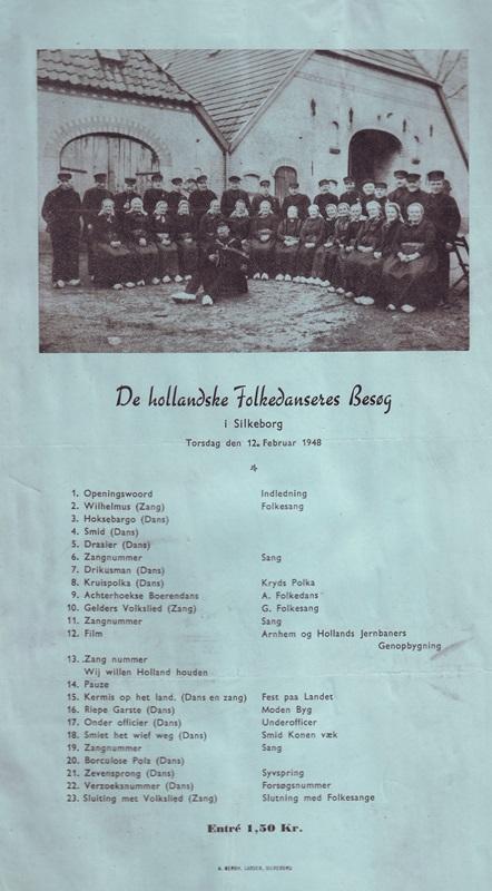 1948 Programma bezoek Denemarken