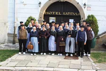 De groep verbleef in Hotel Kapitvla