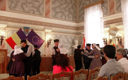 Optreden in de prachtige raadszaal van Zalau