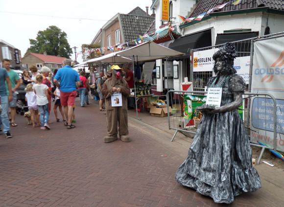 Braderiemarkt 2015 - Living statues