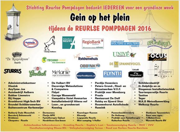 Achterhoek Nieuws - Pompdagen bedankt sponsoren 2016-08-17